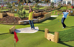 Crazy golf at Greenacre Holiday Park