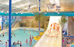 The indoor pool facities at Hafan y Mor Haven Holiday Park