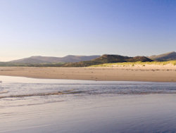A photo of one of the beaches in Snowdonia