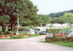 A view of the lovely peaceful setting at Glen Trothy Caravan Park  near Monmouth, South Wales