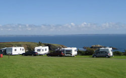 A photo of a field at Caerfai Bay Caravan & Tent Park in West Wales