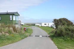 A view of the entrance of Caefai Bay Caravan and Tent Park in West Wales
